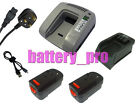 2 Battery+Charger For 2.0Ah 18V Black And Decker HP188F2B Cordless Drills A1718
