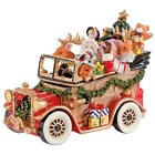 Fitz And Floyd Holiday Santa Musical Classic Car - We Wish You A Merry Christmas