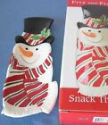 Fitz & Floyd Snowman Snack Therapy Server Appetizer Tray NEW