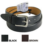 MENS LEATHER MONEY BELT NEW Travel Belt w Hidden Zipper Compartment Bills