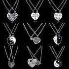 2P NEW Best Friend BFF Gifts Heart Women Men Friendship Jewelry Pendant Necklace