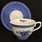 Vintage Churchill Out Of The Blue Footed Breakfast Cup & Saucer Made In England