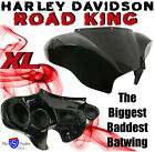 Harley Davidson Road King XL Motorcycle Batwing Fairing Fiberglass 4 Speaker