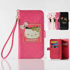 Cute Hello Kitty Handbag Leather Flip Wallet Card Case Cover for iPhone 7 7 plus
