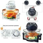 Air Convection Oven Fryer Griller Oil Less Roaster Low Fat Calorie Reducer Lid