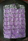 SHEFFIELD HOME jewelry door organizer purple violet 66 pockets earring