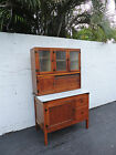 Oak Hoosier Kitchen Curio Cabinet China Closet from the Early 1900's  7890