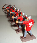 on foot RED ARCHERS KNIGHTS Argentina DSG Medieval Plastic Toy Soldiers Britains