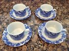 NEW - Omnibus By Fitz And Floyd BORDEAUX Porcelain Cup And Saucer - Set Of Four
