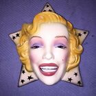 MARILYN MONROE great  STATE approved 1988 FACE MASK HAND PAINTED CLAY ART
