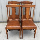 1905 1915 QUARTERSAWN OAK 4 T BACK CLAW FOOT STYLE DINING ROOM CHAIRS