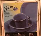 Fiestaware 4 piece place setting 4pcs Lapis Blue FREE SHIPPING