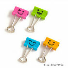 10PCS Smile Metal Binder Clips Home Office Stationery Bookmakrs Paper Organizer