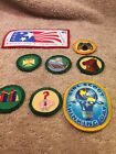 Lot Of 8 Girl Scout Patches Vintage
