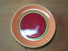 Dansk CARIBE ARUBA ORANGE Set of 6 Dinner Plates 10 5/8 Second pic best color