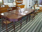 Ca.1790-1800 FEDERAL PERIOD SHERATON BANQUET TABLE -- 3 SECTION DROP LEAF