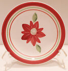 Set of 4 Mulberry Home Collection Red and White Floral  Dinner Plates