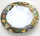 1 Sakura Jungle Animals Oneida Rimmed Soup Bowl Stephanie Stouffer Stoneware
