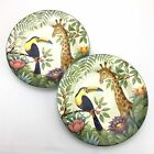 2 Sakura Jungle Animals Oneida Stephanie Stouffer Giraffe Toucan Stoneware