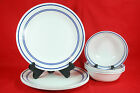 CORELLE CLASSIC CAFE BLUE (4) DINNER PLATES & (4) CEREAL BOWLS