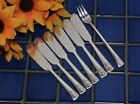 7 Embassy Sincerity Silverplate MAGIC LILY 6 Spreaders + 1 Cocktail/Seafood 1955