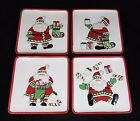 Fitz and Floyd - Christmas Stocking Stuffers - Santa Claus Hor D'oeuvres Plates