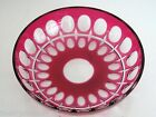 1 VAL ST LAMBERT CRANBERRY CASED CUT TO CLEAR CRYSTAL 5 BOWL