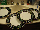 Set of 4 FITZ & FLOYD china CHINOISERIE pattern DINNER PLATE 10-3/8