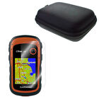 LCD Screen Protector + Portable Case Bag Handheld GPS eTrex 10 20 30 10x 20x 30x