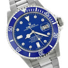 Rolex Men's Submariner Stainless Steel 40mm Diamond Blue Dial - Pre-Owned