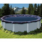 28 Round Navy Blue Above Ground Swimming Pool Winter Cover 10 Yr Limited WTY
