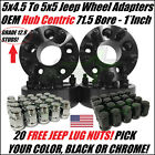 4 WHEEL ADAPTERS 5X45 TO 5X5 1 INCH ADAPT JEEP JK WHEELS ON TJ YJ HUBCENTRIC