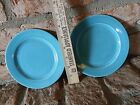 VINTAGE PAIR OF 1939 HOMER LAUGHLIN HARLEQUIN BREAD & BUTTER PLATES FIESTA
