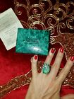 RARE Suzanne Somers Tiffany Blue Huge CZ Bow Ring size 5