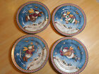 Sakura Debbie Mumm SNOW ANGEL VILLAGE Set of 4 Salad Plates 4 diff designs A