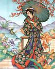 Asian Lady with Parasol Art Print POSTER lithograph Poster Print 13x19