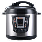 Costway 1000 Watt 6-quart Electric Pressure Cooker Brushed Stainless Steel Black