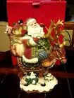 Fitz & Floyd Jolly Ole St. Nick Large Santa Centerpiece NEW in BOX