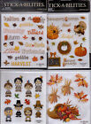 The Paper Studio Stickabilities THANKSGIVING Themed Stickers AdorableQuick Ship