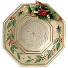 Fitz and Floyd Christmas Winter Wonderland Large Canape Plate  9.75