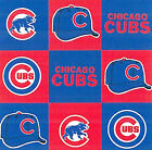 Chicago Cubs MLB Baseball Sports Squares Print Fleece Fabric by the Yard s6526df
