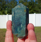Big Super BLUE APATITE Crystal Point Beautiful Terminations Natural DT Brazil