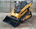 2013 CATERPILLAR 299D XHP 110HP 40GPM HEAT AC CAT 2SPEED Track Skid Steer Loader