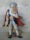 Retired Fitz And Floyd HARVEST HERITAGE MALE PILGRIM Large Figurine Centerpiece