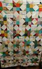 Scrappy Star Block Quilt Top 56 square