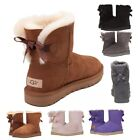Authentic UGG Womens Shoes Mini Bailey Bow Boot Chestnut Black Grey Pink New