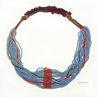 1 old african fulani tribal necklace venetian  czech african trade beads 426b