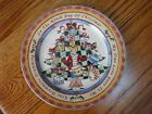 """222 Fifth 12 Days of Christmas 9 Drummers Druming Salad Dessert Plate 8"""" MINT"""