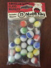VINTAGE MARBLE KING GLASS MARBLES UNOPENED PACKAGE 25 counts