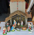 Christmas Nativity Italy made Precepio original 40yr old MINT Mache Manger 30